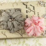 Prima - The Gatsby Collection - Fabric Flower Embellishments - Perky