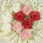Prima - Champagne Rose Collection - Fabric Flower Embellishments - Gracie