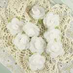 Prima - Champagne Rose Collection - Fabric Flower Embellishments - White Vine