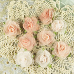 Prima - Champagne Rose Collection - Fabric Flower Embellishments - Espirit, BRAND NEW
