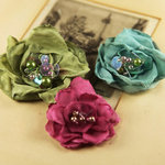 Prima - The Fitzgerald Collection - Fabric Flower Embellishments - Rosea