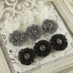 Prima - Delightful Collection - Fabric Flower Embellishments - Dimmet