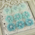 Prima - Delightful Collection - Fabric Flower Embellishments - Splash