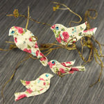 Prima - Birdsong Collection - Bird Embellishments - Rose Print