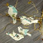 Prima - Birdsong Collection - Bird Embellishments - Teal Print