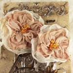 Prima - Parfait Collection - Fabric Flower Embellishments - Coffee