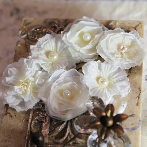 Prima - Annette Collection - Fabric Flower Embellishments - French Silk