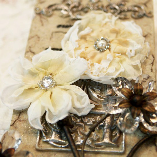 Prima - Annette Collection - Fabric Flower Embellishments - Evelyn