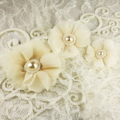 Prima - Millinery Collection - Fabric Flower Embellishments - Oatmeal