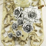 Prima - Precious Metals Collection - Flower Embellishments - Silver
