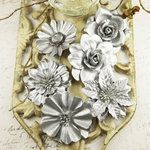 Prima - Precious Metals Collection - Flower Embellishments - Frosted