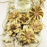 Prima - Precious Metals Collection - Flower Embellishments - Gold