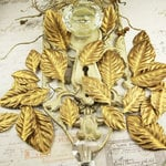 Prima - Precious Metals Collection - Flower Embellishments - Gilded