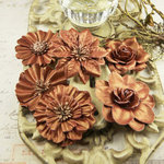 Prima - Precious Metals Collection - Flower Embellishments - Henna