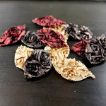 Prima - Lovely Collection - Fabric Leaves Embellishments - Mix 1