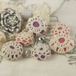 Prima - Cute as a Button Collection - Flower Center Embellishments - Dreamy
