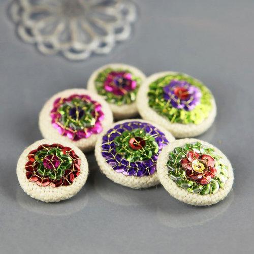 Prima - Shalimar Collection - Bling - Flower Center Embellishments - Bala