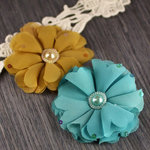 Prima - Matriarch Collection - Fabric Flower Embellishments - Audrey