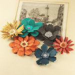 Prima - Dollhouse Collection - Flower Embellishments - Velvet