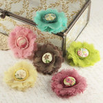 Prima - Trinket Collection - Fabric Flower Embellishments - Madeline