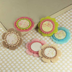 Prima - Gianna Collection - Fabric Flower Embellishments - Sparkling Spring