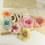 Prima - Whisper Collection - Fabric Flower Embellishments - Reflections, CLEARANCE
