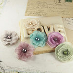 Prima - Whisper Collection - Fabric Flower Embellishments - Botanical, CLEARANCE