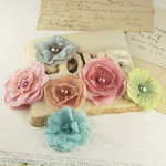 Prima - Whisper Collection - Fabric Flower Embellishments - Celebrate Jack and Jill