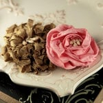 Prima - Dechire Collection - Fabric Flower Embellishments - Ariel