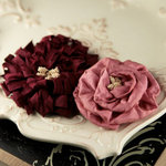 Prima - Dechire Collection - Fabric Flower Embellishments - Dorea, BRAND NEW