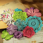 Prima - Love Note Collection - Flower Embellishments - Sweet Fairy