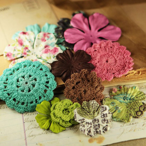 Prima - Love Note Collection - Flower Embellishments - Melody