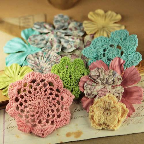 Prima - Love Note Collection - Flower Embellishments - Celebrate Jack and Jill