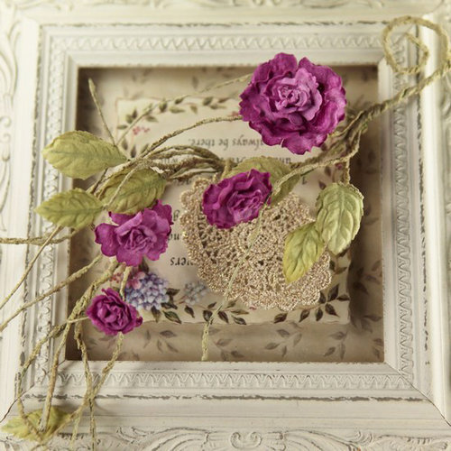 Prima - Summer Carnation 2 Collection - Flower Embellishments - Violaceous