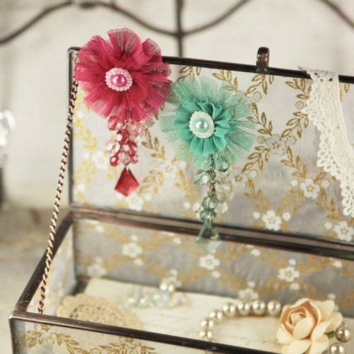 Prima - Angel Eyes Collection - Fabric Flower Embellishments - Melody