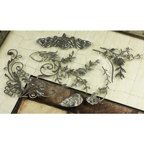 Prima - Vintage Trinkets Collection - Metal Embellishments - Silver Mix 1