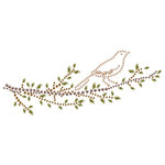 Prima - Say It In Crystals Collection - Self Adhesive Jewel Art - Bling - Branches with Bird - Brown