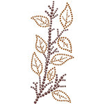 Prima - Say It In Crystals Collection - Self Adhesive Jewel Art - Bling - Leaves Spray - Brown
