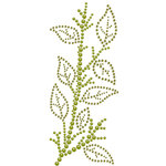 Prima - Say It In Crystals Collection - Self Adhesive Jewel Art - Bling - Leaves Spray - Green