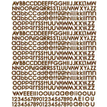 Prima - North Country Collection - Christmas - Textured Stickers - Alphabet