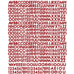 Prima - Pixie Glen Collection - Textured Stickers - Alphabet