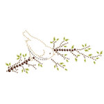 Prima - Say It In Crystals Collection - Self Adhesive Jewel Art - Bling - Bird Branch