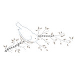 Prima - Say It In Crystals Collection - Self Adhesive Jewel Art - Bling - Bird Branch 2