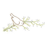 Prima - Say It In Crystals Collection - Self Adhesive Jewel Art - Bling - Bird Branch 3
