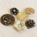 Prima - Printery Collection - Vintage Buttons