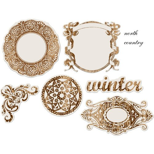 Prima - North Country Collection - Christmas - Reflections - Antique Transparent Mirrors