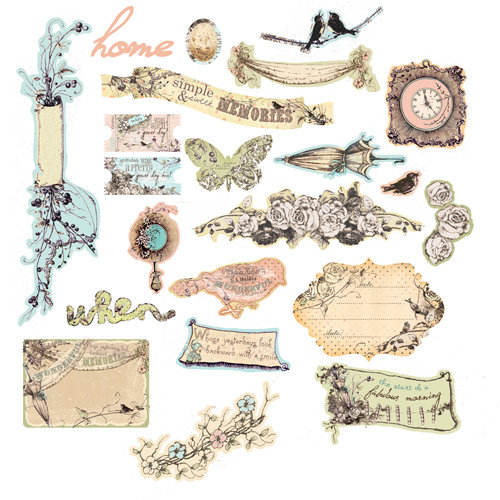 Prima - Pixie Glen Collection - Chipboard Stickers