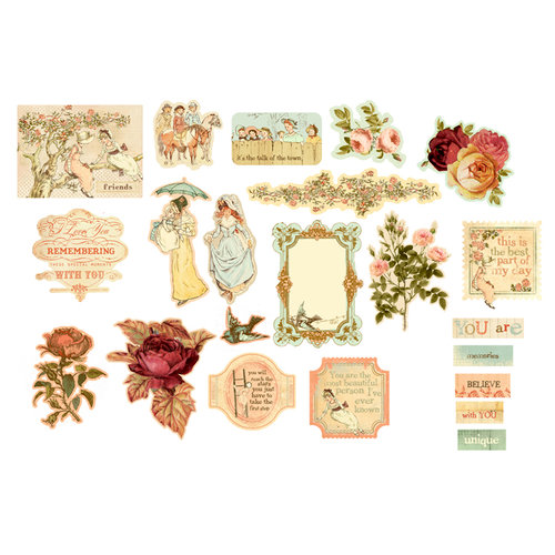 Prima - Romantique Collection - Chipboard Stickers