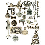 Prima - Printery Collection - Chipboard Stickers