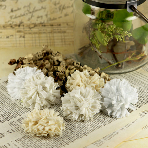 Prima - Powder Puffs Collection - Fabric Flower Embellishments - Cassie